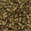 Miyuki Tila Half Cut 5X2.3mm 2Hole Dark Bronze Opaque Met.matte